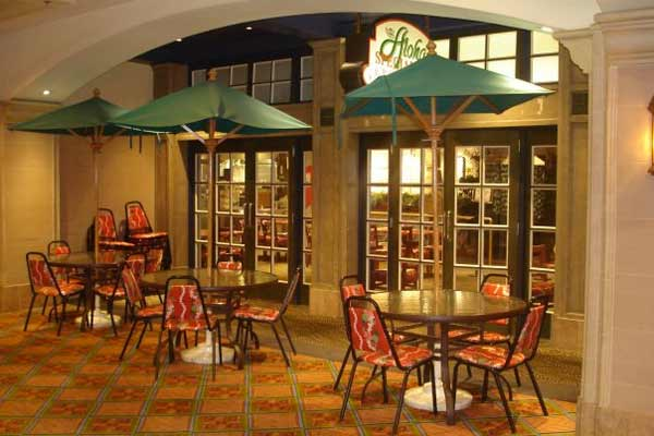 Aloha Specialties Located On The California Hotel S Mezzanine Will Satisfy Your Taste Buds With Its Island Fare Umbrellas And Wicker