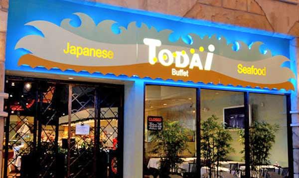 todai sushi and seafood buffet las vegas urban dining guide rh urbandiningguide com Todai Buffet Birthday todai buffet locations los angeles